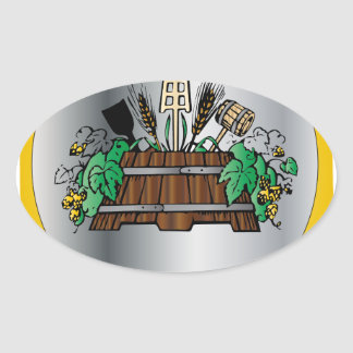 Guild of Brewers Oval Sticker