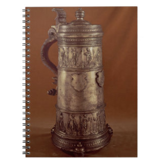 Guild tankard, silvered pewter, 1564 spiral note book