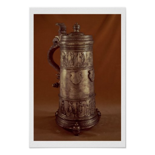 Guild tankard, silvered pewter, 1564 poster