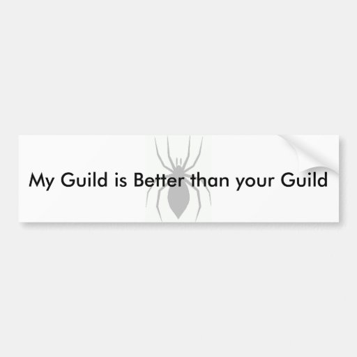 Guildcrest, My Guild is Better than your Guild Bumper Stickers