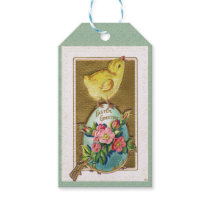 Guilded Antique Easter Baby Chick Gift Tags