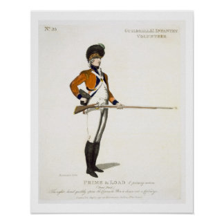 Guildhall Light Infantry Volunteer, plate 33 from Poster