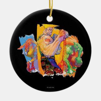 Guile, Blanka & Dhalsim Ceramic Ornament