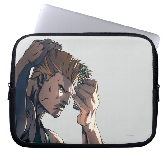 Guile Combing Hair Laptop Sleeve
