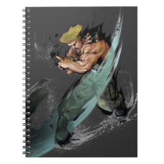 Guile Sonic Boom Spiral Notebook