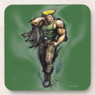 Guile With Jacket Beverage Coasters