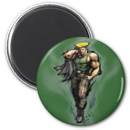 Guile With Jacket Fridge Magnet