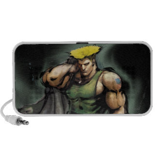 Guile With Jacket iPhone Speaker