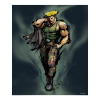 Guile With Jacket Poster