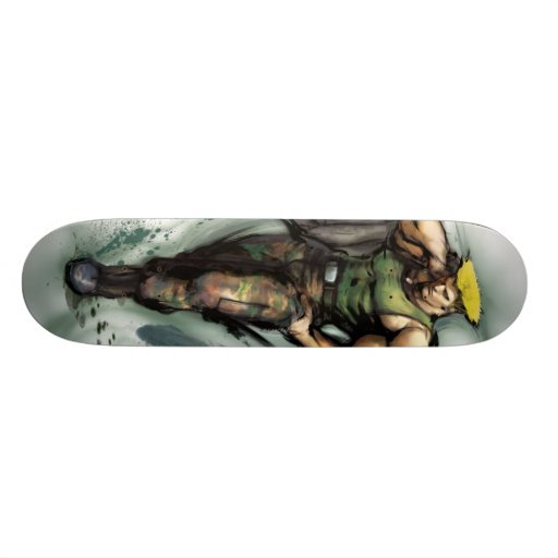 Guile With Jacket Skate Board