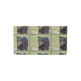 Guileless Rottweiler Checkbook Cover