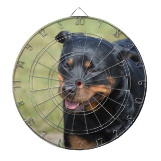 Guileless Rottweiler Dartboard With Darts