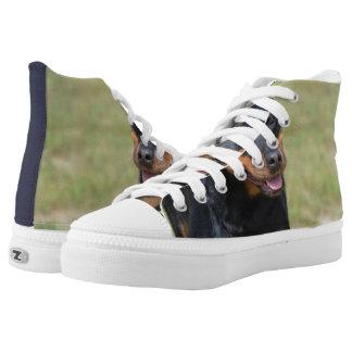 Guileless Rottweiler High-Top Sneakers