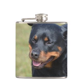 Guileless Rottweiler Hip Flask