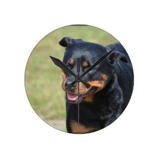 Guileless Rottweiler Round Clock