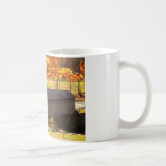 Guilford Vermont Covered Bridge Autumn Classic White Coffee Mug