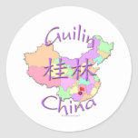 Guilin China Round Stickers