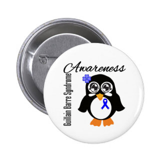 Guillain Barre Syndrome Awareness Penguin 2 Inch Round Button