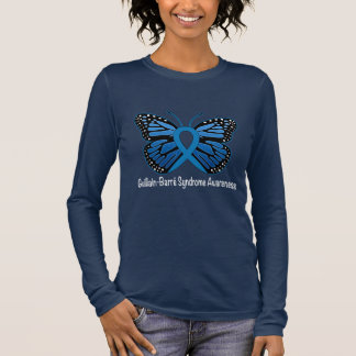 Guillain-Barre Syndrome Butterfly Awareness Ribbon Long Sleeve T-Shirt