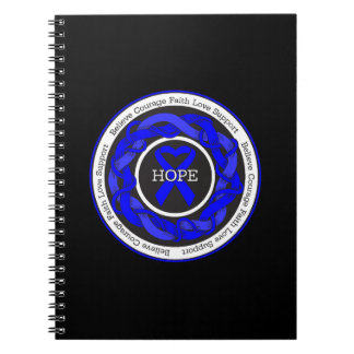 Guillain Barre Syndrome Hope Intertwined Ribbon Note Book
