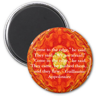Guillaume Appolinaire inspirational quotation 2 Inch Round Magnet