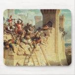 Guillaume de Clermont defending Ptolemais Mouse Pad