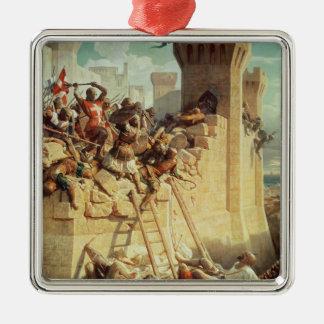Guillaume de Clermont defending Ptolemais Christmas Ornaments