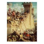 Guillaume de Clermont defending Ptolemais Postcard