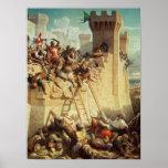 Guillaume de Clermont que defiende Ptolemais Poster