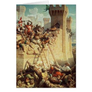 Guillaume de Clermont que defiende Ptolemais Tarjeta De Felicitación