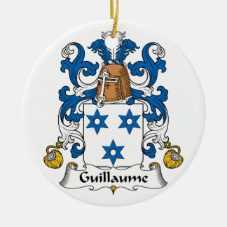 Guillaume Family Crest Christmas Tree Ornaments