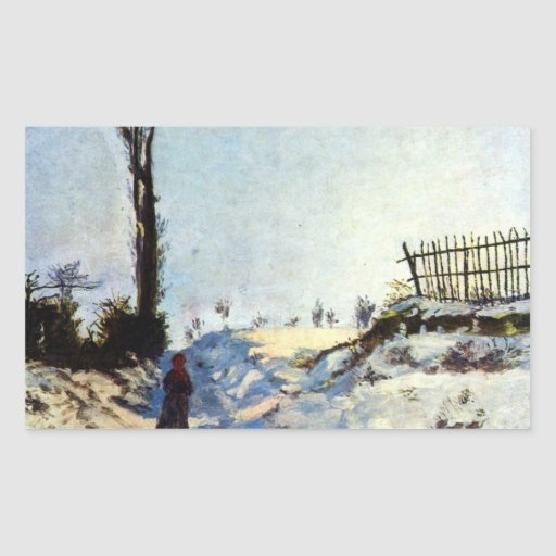 Guillaumin - Walking in snow Rectangular Sticker