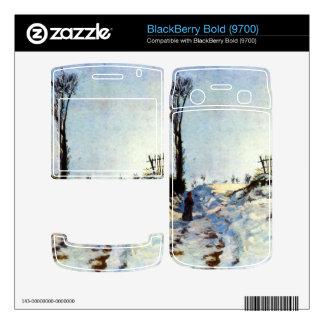 Guillaumin - Walking in snow BlackBerry Decal