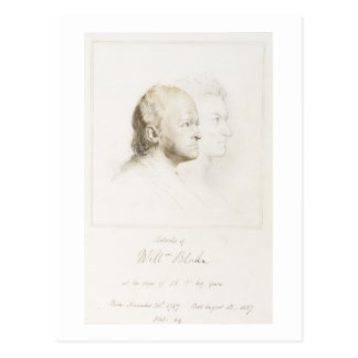 Guillermo Blake (1757-1827) en la juventud y la ed Postales