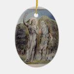 Guillermo Blake Cristo tentado por Satan Ornamento Para Arbol De Navidad