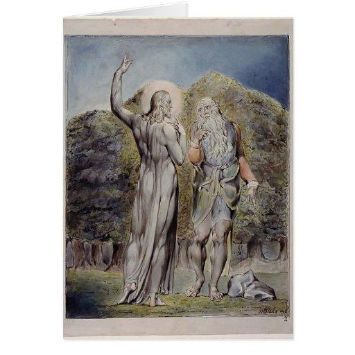 Guillermo Blake Cristo tentado por Satan Tarjetas