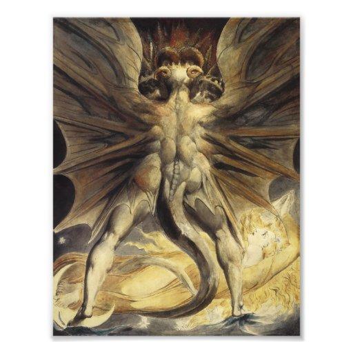 Guillermo Blake - el gran dragón rojo y la mujer Arte Con Fotos