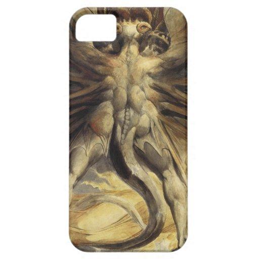 Guillermo Blake - el gran dragón rojo y la mujer iPhone 5 Fundas