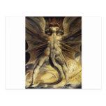 Guillermo Blake - el gran dragón rojo y la mujer Postal