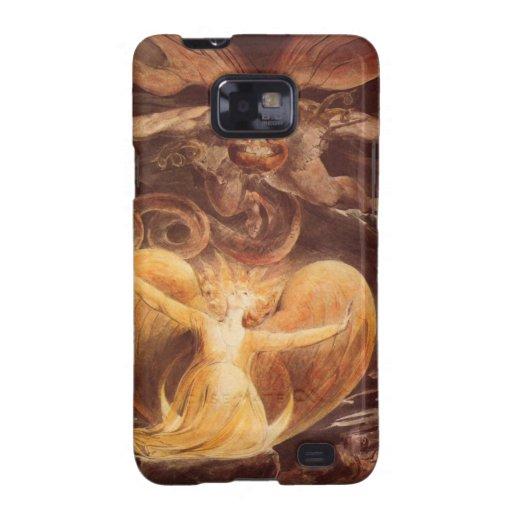 Guillermo Blake - la caja roja de la pintura del d Samsung Galaxy SII Fundas