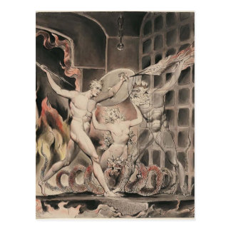 Guillermo Blake: Paraíso del ` s de Milton perdido Postales