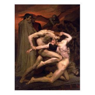 Guillermo Bouguereau- Dante y Virgil en infierno Postales