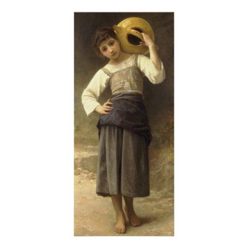 Guillermo Bouguereau- el chica del agua Diseños De Tarjetas Publicitarias