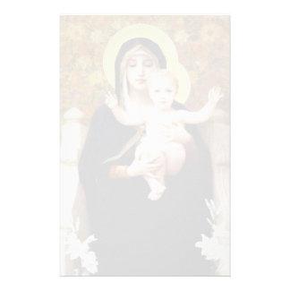 Guillermo Bouguereau- Madonna de los lirios Papeleria Personalizada