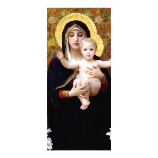 Guillermo Bouguereau- Madonna de los lirios Lona Personalizada