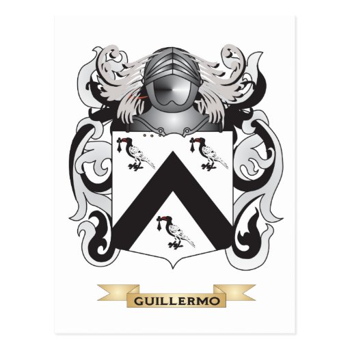Guillermo Coat of Arms (Family Crest) Postcard