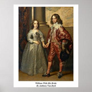 Guillermo con su novia de Anthony Van Dyck Poster