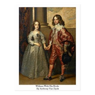 Guillermo con su novia de Anthony Van Dyck Tarjeta Postal