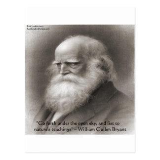 Guillermo Cullen Bryant y cita de la naturaleza Postales