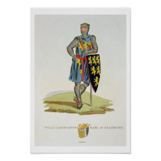Guillermo de Longuespee, 3ro conde de Salisbury (d Posters